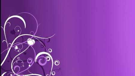 淡紫色花藤素材