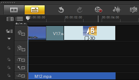 编辑视频时如何通过音量调节线调节音量