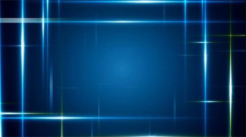 游走蓝色光线素材