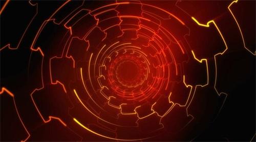 虚拟光线隧道素材