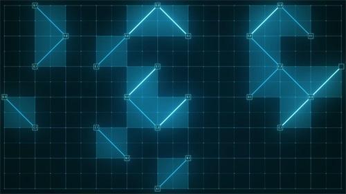 方格几何图形素材