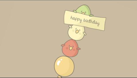 生日视频素材