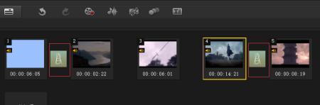 每个视频之间添加转场
