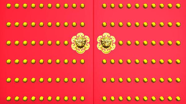 红色大门序列图