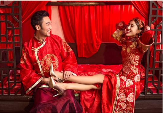 中式婚纱照二