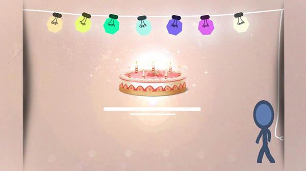 出现生日蛋糕