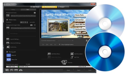 会声会影视频分享、输出与刻录