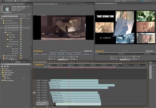 premiere 动画制作界面