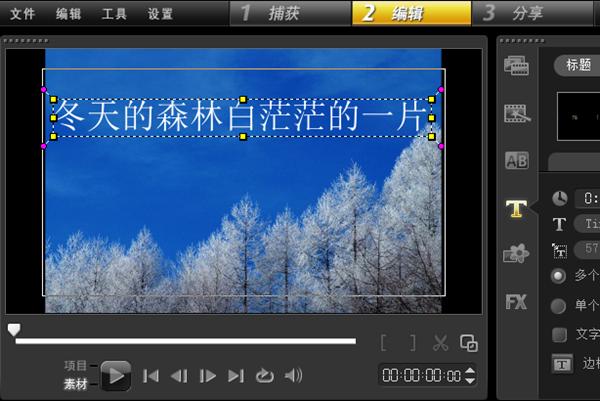 视频字幕添加