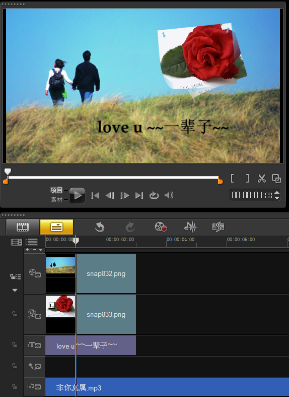 视频编辑软件制造爱的表达式
