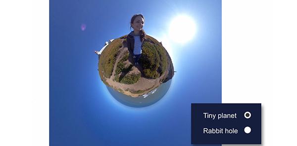创建微小的星球视频