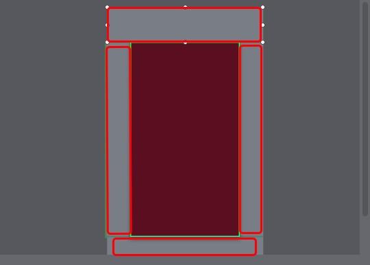 4个矩形作为墙壁