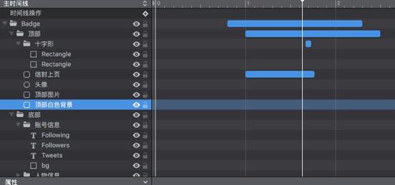 项目动画时间线展示