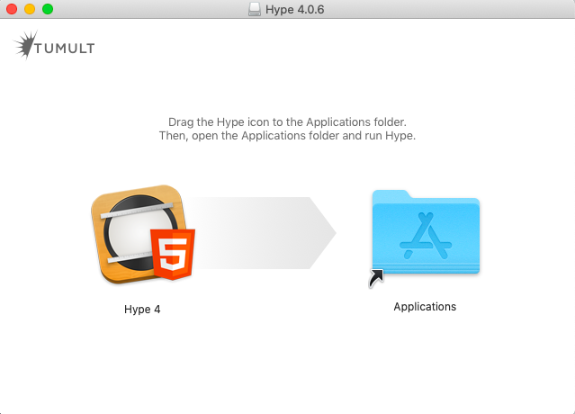 """将""""Hype 4""""拖入""""Applications"""""""