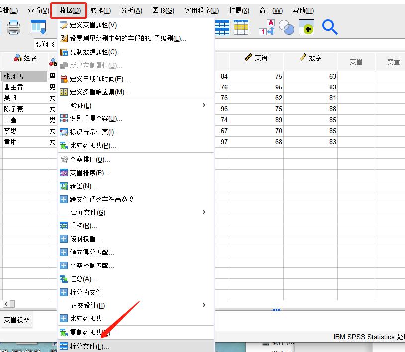 图4:拆分文件选项