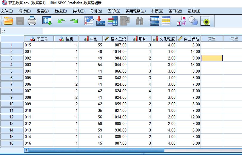 图2:职工数据