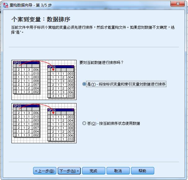图5:数据排序选择