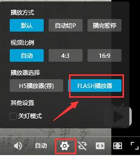 设置Flash播放器