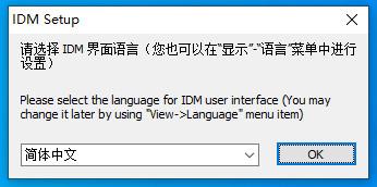 选择IDM界面语言