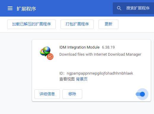 图4:IDM浏览器插件(Chrome为例)
