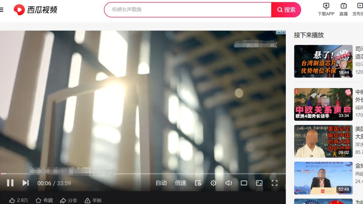 图1:视频播放界面