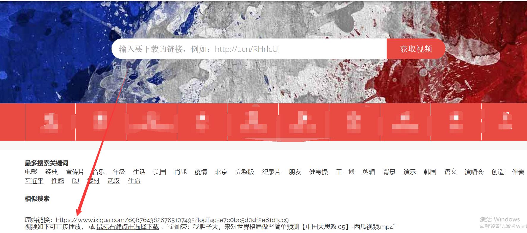 图4:视频解析网站
