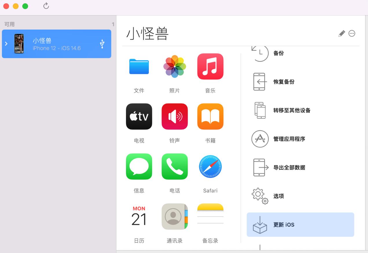 图3:更新iOS