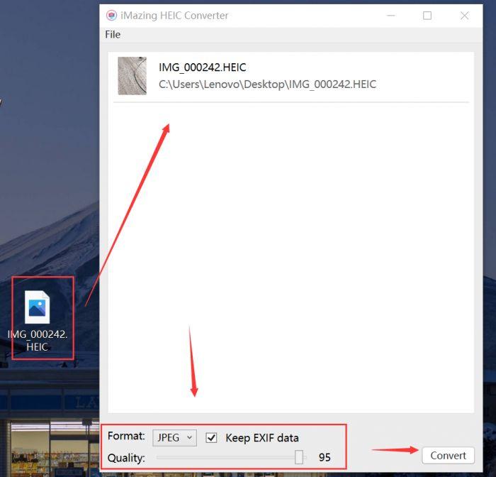 将HEIC转换为JPEG格式
