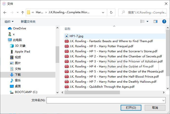 导入PDF文件