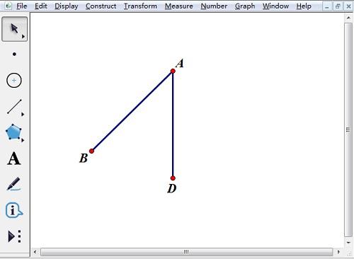 構造線段AB、AD
