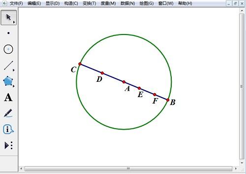 绘制圆A和线段BC