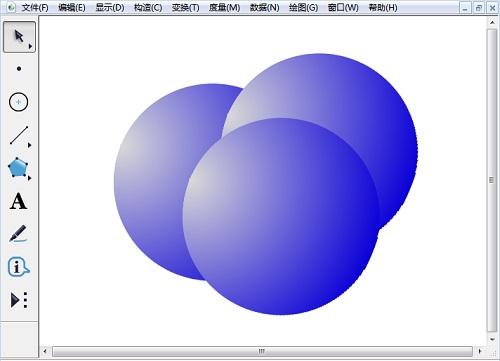 彩色立體球