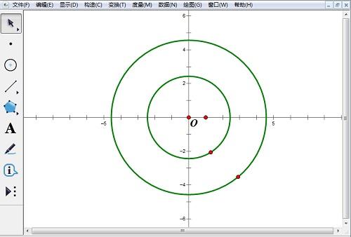 绘制两个同心圆