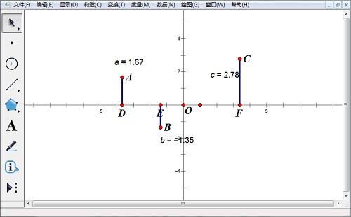 度量点的纵坐标
