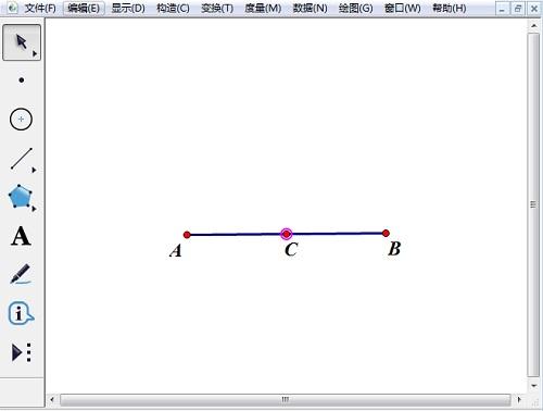 绘制线段AB及中点C