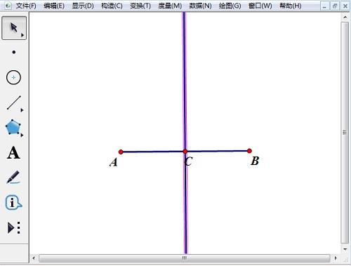 构造线段AB的中垂线