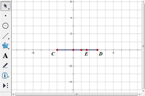 構造點E并度量橫坐標