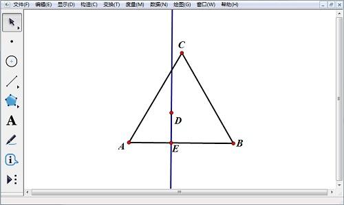 幾何畫板構造垂線
