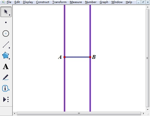 构造过点A、B的垂线