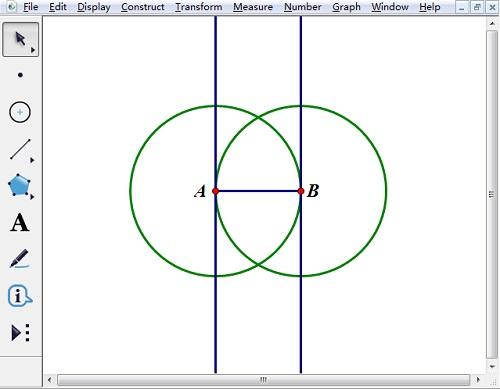 画相等的圆A、B