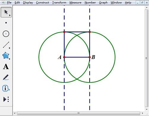 画正方形的三条边
