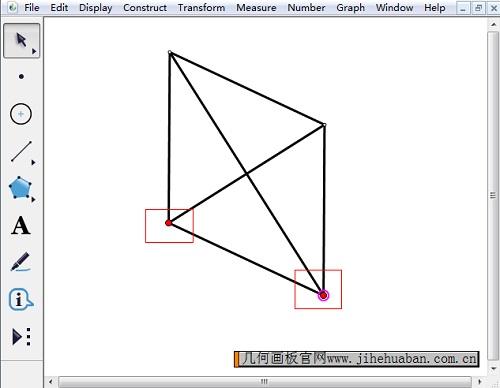 绘制含对角线菱形