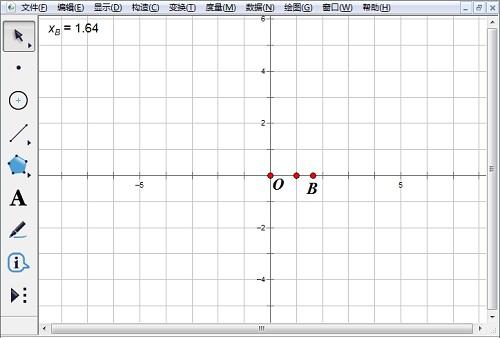 構造點B并度量橫坐標