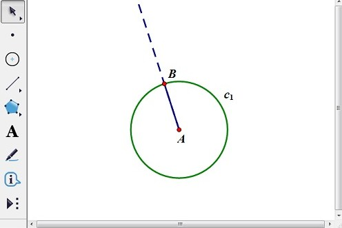 線段AB為半徑畫圓