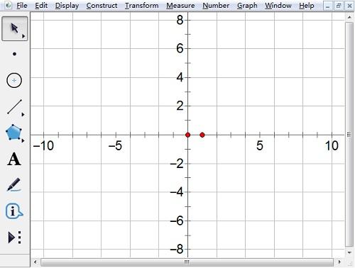 打開幾何畫板坐標軸
