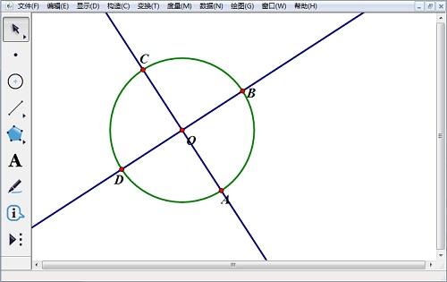 几何画板构造直线和垂线