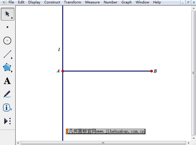 构造线段AB垂线