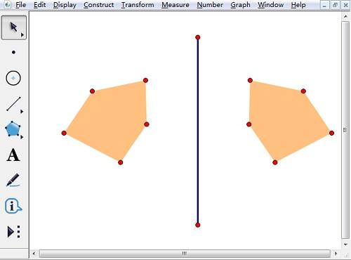 对五边形进行反射