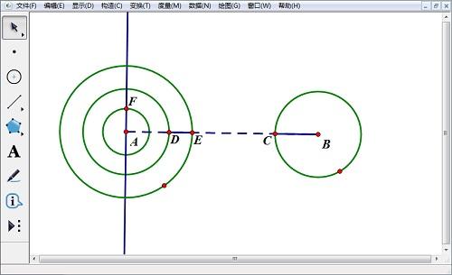 以半徑和圓心構造圓