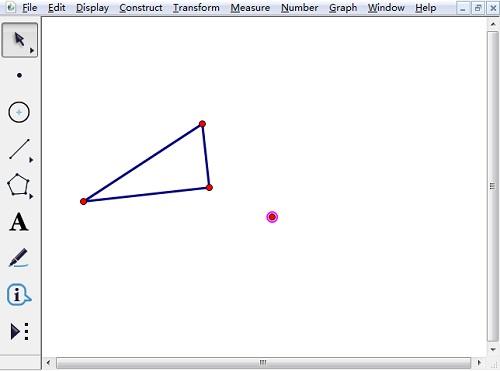 绘制三角形和位似中心